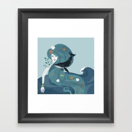 Aquatic Life of a Seaflower Framed Art Print