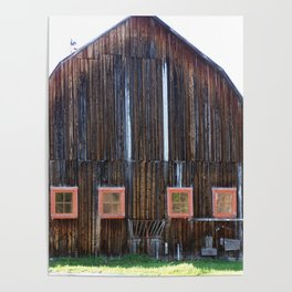 Rustic Old Country Barn Poster
