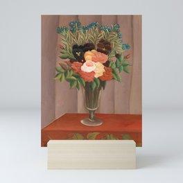 Bouquet of Flowers - Henri Rousseau Mini Art Print