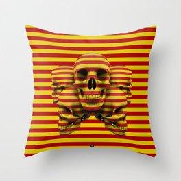 Skulls pop Throw Pillow