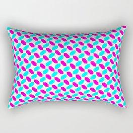 Inverted Pink & Light Blue Diamonds Rectangular Pillow