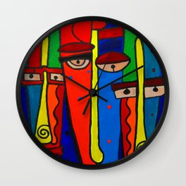 Facebook Profiles Wall Clock