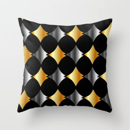 Aluminum and gold stitched textures Throw Pillow