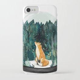 Snow Globe Fox iPhone Case