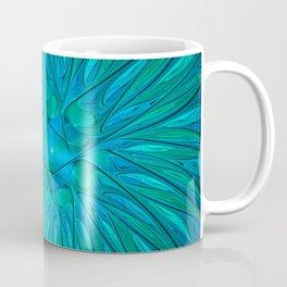 Floral in Sea Colors Coffee Mug