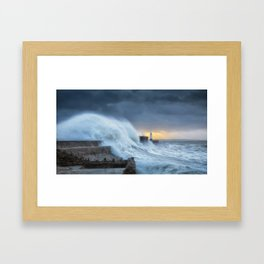 Hurricane Brian with oil painting effect Framed Art Print