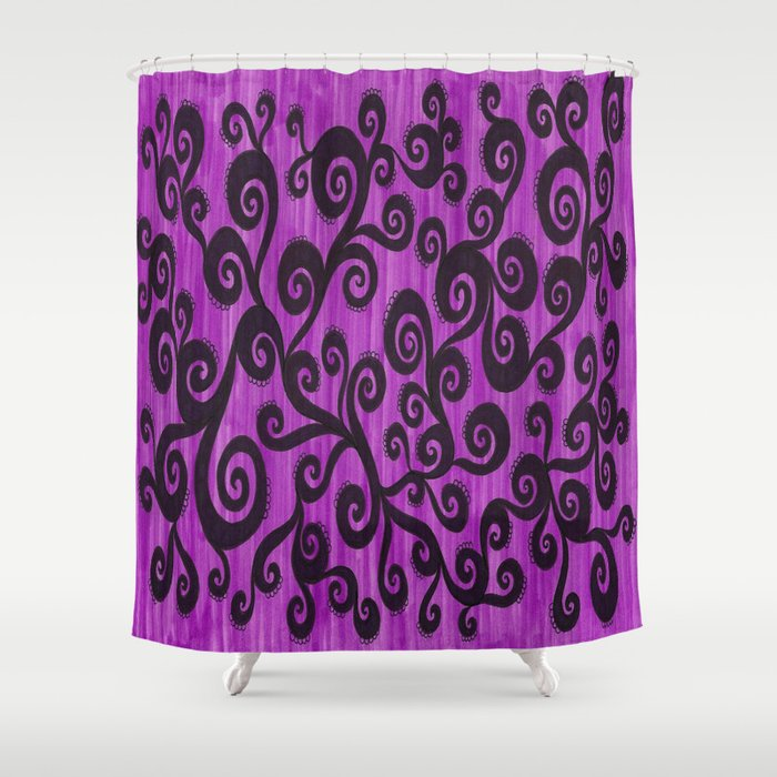 Throw in Some Frill  Shower Curtain