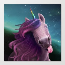 Sassy Unicorn Canvas Print