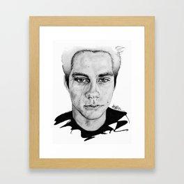 Dylan O'Brien / Void Stiles Framed Art Print
