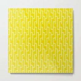 Yellow latticework pattern Metal Print