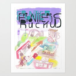 """""""Granduncles of St. Lawrence County"""" / Frontier Ruckus Song Illustrations, Series 1 (10/15) Art Print"""