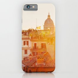Piazza di Spagna - Rome Italy Photography iPhone Case