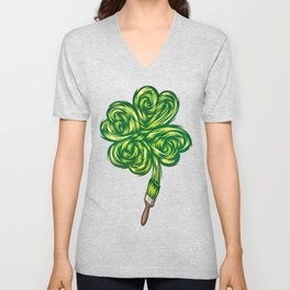 Clover - Make own luck Unisex V-Neck