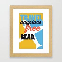 Travel - Just Read Framed Art Print