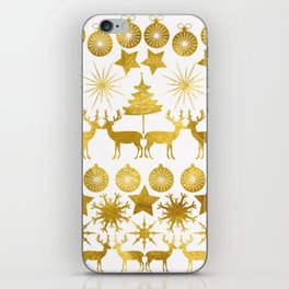 Gold Christmas 04 iPhone Skin