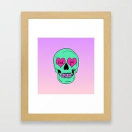 Bad Gal Skull Framed Art Print