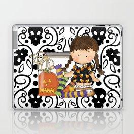 Halloween Skull Girl Laptop & iPad Skin