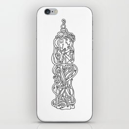 Happy couple in style Celtica iPhone Skin