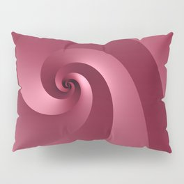 Rose-colored Wave Pillow Sham