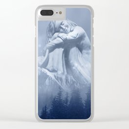 Wintry Woman of the Mountain Clear iPhone Case