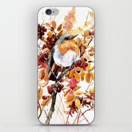 Robin Bird and Colors of Fall iPhone Skin