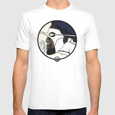 Captain Photon White Mens Fitted Tee LARGE