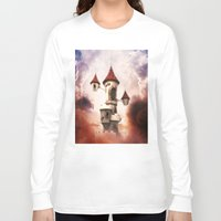 castle in the sky Long Sleeve T-shirts featuring Castle in the Sky by Heidy Curbelo