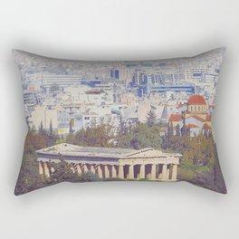 Ancient Cityscape Rectangular Pillow