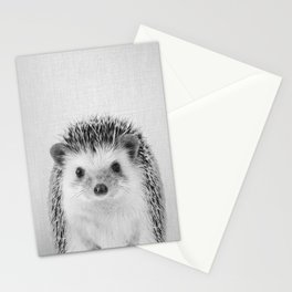 Hedgehog - Black & White Stationery Cards