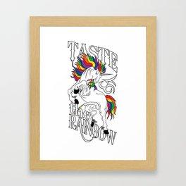Taste The Rainbow (NSFW) Framed Art Print