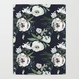Rustic Floral Print Poster
