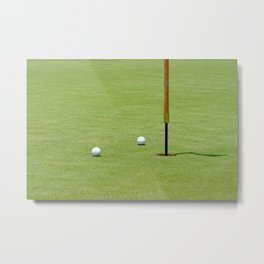 Golf Pin Metal Print