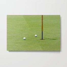 Golf Pin Metal Print