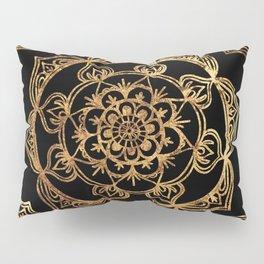 Gold Foil Mandala Pillow Sham