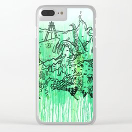 BATTLE ROYALE UNDERWATER Clear iPhone Case