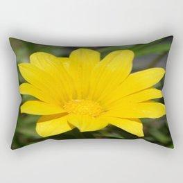 Bright Yellow Gazania Flower Rectangular Pillow