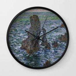 "Claude Monet ""Pyramides Port Coton"" Wall Clock"