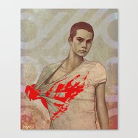 stiles Canvas Prints featuring Stiles Stilinski by Sudjino