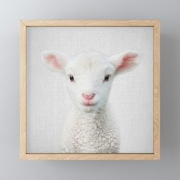 Lamb - Colorful Framed Mini Art Print