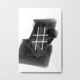 Hashtag typographic treatment.  Dark Math. # Metal Print
