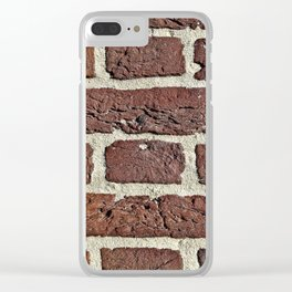 Brick wall gap between bricks are filled with sand and cement Clear iPhone Case