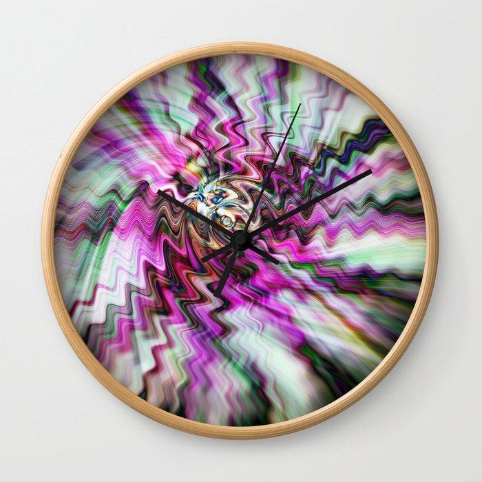Pink Freudian Wall Clock