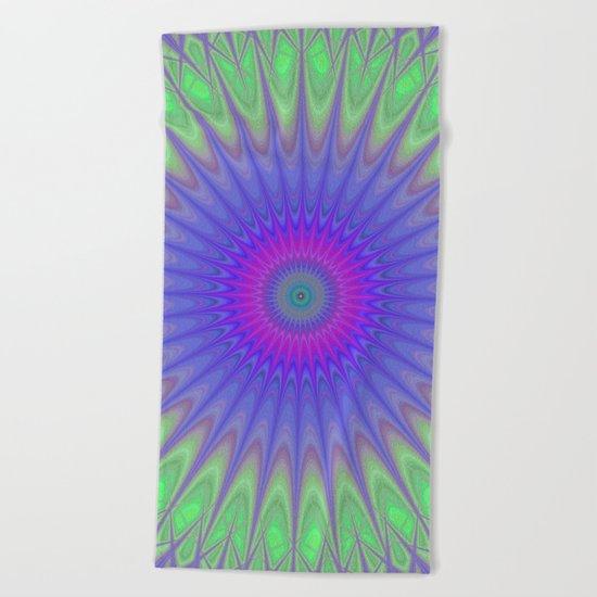 Cold mandala Beach Towel
