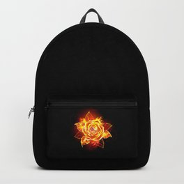 Blooming Fire Rose Backpack