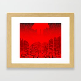 Killer Street Framed Art Print