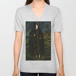 Portrait of Anita Ramirez in Black - Digital Remastered Edition Unisex V-Neck