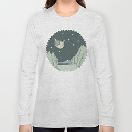 Cat Moon Long Sleeve T-shirt