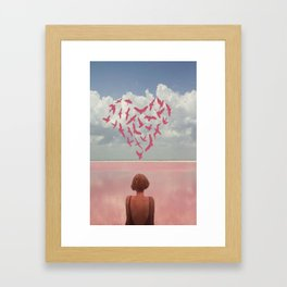 au loin  Framed Art Print