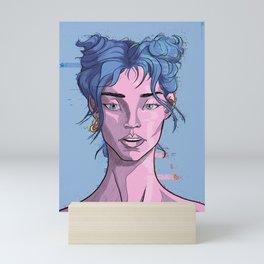 Glitch girl Mini Art Print