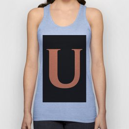 U MONOGRAM (CORAL & BLACK) Unisex Tank Top